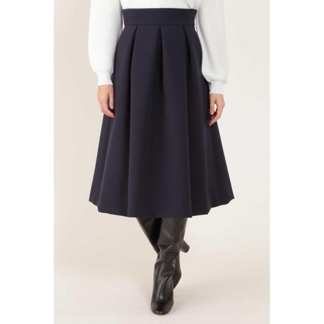 NATURAL BEAUTY ◆トリプルクロスフレアスカート ひざ丈スカート,ネイビー