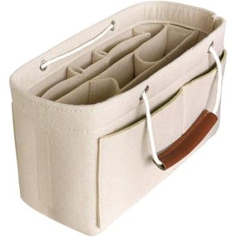 APSOONSELL 軽い バックインバック 自立型 収納 多機能 インナーバッグ A4 縦 バッグインバッグ 軽量 M ベージュ