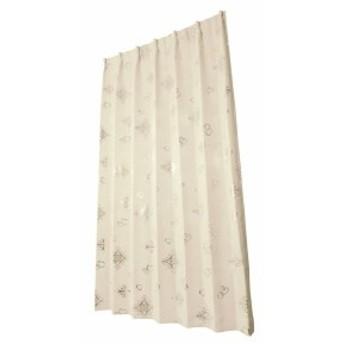 ユニベール ドレープカーテン アリッサ アイボリー 幅100×丈105cm 2枚組