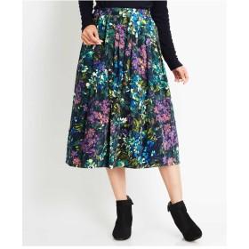 GIANNI LO GIUDICE ボタニカルコーデュロイスカート その他 スカート,ブルー