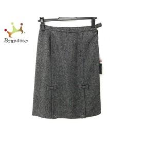 ギャラリービスコンティ スカート サイズM レディース 美品 ダークグレー リボン 新着 20190830