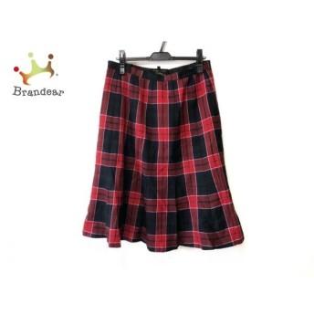 レリアン Leilian スカート サイズ13 L レディース 黒×レッド×ダークグリーン チェック柄 新着 20190830