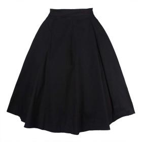 Nicellyer 花柄ワンピーススカート Black L