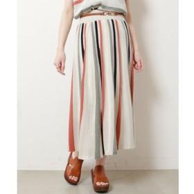 【フレームス レイカズン/frames RAY CASSIN】 ラメストライプニットロングスカート