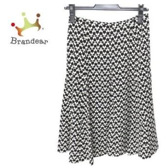 ギャラリービスコンティ スカート サイズ2 M レディース 美品 黒×アイボリー 蝶 新着 20190830