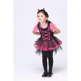 (ミミ コスチューム) Mimi Costume ハロウィン 女の子 ガール キッズ 子供 可愛い子猫 衣装 コスプレ衣装 コスチューム ダンス ワンピー