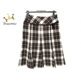 ギャラリービスコンティ スカート サイズ2 M レディース 美品 ダークブラウン×ベージュ×黒 新着 20190830