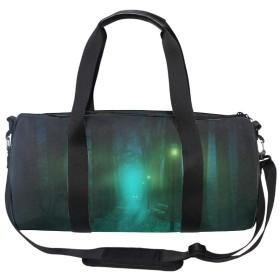 Park Fog Lantern Bench Mysticalスポーツバッグ ポケッタブル ドラムバッグ