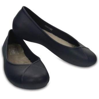 【クロックス公式】 オリビア 2.0 ラインド フラット ウィメン Women's Crocs Olivia II Lined Flat ウィメンズ、レディース、女性用 ブルー/青 21cm,22cm,23cm flat フラットシューズ バレエシューズ ぺたんこシューズ 30%OFF