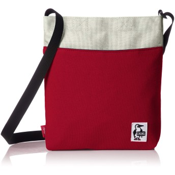[チャムス] ショルダーバッグ Vertical Mini Shoulder Sweat Nylon Red/Gray