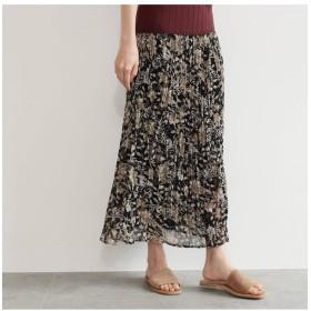 【オゾック/OZOC】 [洗える]花柄プリーツスカート