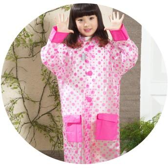 子供女の子赤ちゃんレインコートシングルポンチョバッグファッション子供のレインコート,S,赤ドット