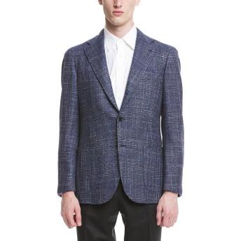 【30%OFF】Classic Model グレンチェック ノッチドラペル テーラードジャケット ネイビー 46