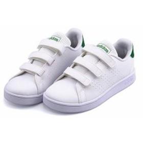 アディダス ベビーシューズ スニーカー 女の子 アドバンコートC ADVANCOURT C adidas EF0223 ランニングホワイト/グリーン/グレーTWO