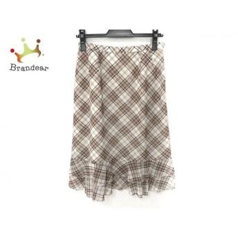 ギャラリービスコンティ スカート サイズ2 M レディース 美品 アイボリー×ベージュ×マルチ 新着 20190830