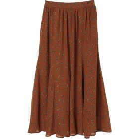 【5,000円以上お買物で送料無料】綺麗フレアスカート(フラワー)