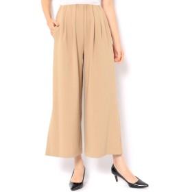 【アンドクチュール/And Couture】 サイドスリットワイドパンツ