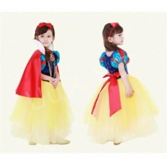 白雪姫ドレス 5点セット ディズニープリンセス ワンピース キッズ 子供ドレス コスチュームコスプレ パーティーグッズcosplayイベント用