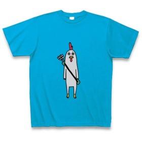 (クラブティー) ClubT 弓道 スマートなニワトリ Tシャツ Pure Color Print(ターコイズ) L ターコイズ