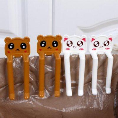 ☜shop go☞【P335】可愛卡通垃圾桶固定夾(2入) 防滑 夾子 時尚 創意 居家 防脫落 固定