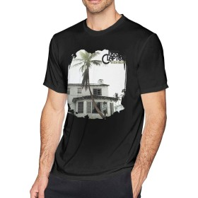 メンズ Tシャツ 半袖 おしゃれ エリック・クラプトン Eric Clapton 461 Ocean Boulevard Remastered プリント スポーツ着 ブラック 6XL