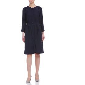 【60%OFF】コンパクトローン ベルト&ペチコート付 ドレス ネイビー 38