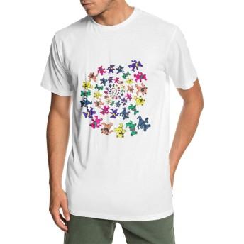 メンズ 丸襟 Tシャツ Grateful Dead グレイトフルデッド 半袖 Tシャツ メンズ おしゃれ 快適な 無地 軽い 柔らかい カジュアルtシャツ 綿 夏 シンプル 父の日 通勤 通学