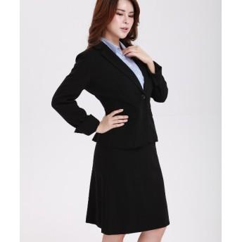 【大きい胸専用】洗えるすごく伸びるセミフレアスカートスーツ【レディーススーツ】 グラマーサイズ(スーツ),women's suits