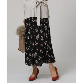 UNTITLED / アンタイトル 【洗える】マーメイドフラワープリントスカート