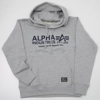 Alpha アルファ TC1117 A-LOGO プルオーバープリントスウェットパーカ (XL, 102 ヘザーグレー)