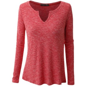 Zhhlinyuan ホット販売 Cotton Comfortable Long Sleeves T-shirt Women Shirt Simple Solid Color Plus 良かった for Ladies