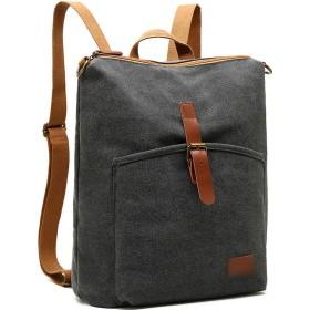 Tantanbaihuoバックパック 男性のキャンバスバックパック大容量バックパック旅行のラップトップバッグ (色 : グレー, サイズ : 13.3inch)