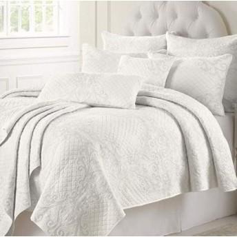 ベッドスプレッド 北欧 コットン キルト 枕カバー ホワイト