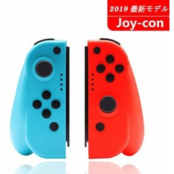 Nintendo Switch コントローラー Joy-Con の代用品 TOPY ネオンブルージャイロ搭載 (R) レッド/ (L) ブルー 適用 ニンテンドースイッチ