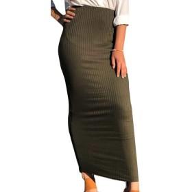 maweisong 女性のハイウエストスリムbodyconパーティークラブナイトアウトマキシペンシルスカート 2 L