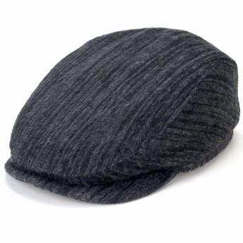 (マイザー) MAYSER ハンチング ウール ストライプ 縦縞 縞 カシミヤ 羊毛 綿 秋冬 Free グレー