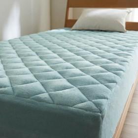 ボックスシーツ 敷きパッド 一体型 寝具 布団 ベッド カバー ボックス 敷 パッド シーツ 洗える ふかふか あったか マイクロファイバー マリン シングル