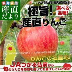 青森県より産地直送 JAつがる弘前 極旨の産直りんご 選べる品種 (王林・太陽ふじ) 3キロ (9玉から13玉) 林檎 リンゴ 津軽