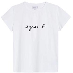 アニエスベー シンプル Tシャツ 半袖T 定番ロゴTシャツカットソー ロゴTシャツ コットン 100% agnes b