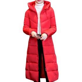 VITryst 女性特大のマキシとミディウインドプルーフフードジャケット Red S