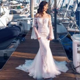 マーメイドラインウェディングドレス 白 二次会 花嫁 ウェディングドレス カラードレス ウェディングドレス 大きいサイズ ドレス 花嫁 販
