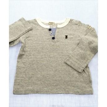 ミキハウスファースト MIKIhouse FIRST 長袖Tシャツ ロンt 90cm グレー系 トップス クマ 男の子 女の子 キッズ 子供服 通販 買い取り