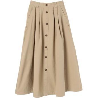 【6,000円(税込)以上のお買物で全国送料無料。】フロントボタンスカート