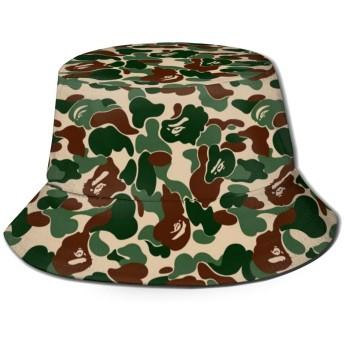 Aniaml Bape Camouflage Greenバケットハット ハット 帽子 紫外線対策 サファリハット カジュアル スポーツ メンズ レディース プレゼント UVカット つば広 おしゃれ 可愛い 日よけ 夏季 小顔効果