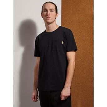 【77%OFF】胸ポケット クルーネック 半袖Tシャツ ブラック xs