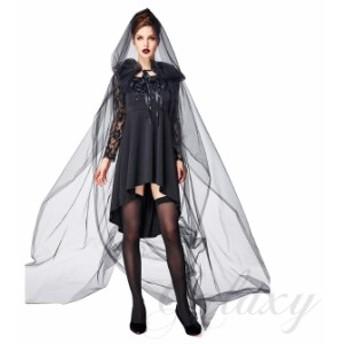 魔女 悪魔 デビル 魔法使い 女王 吸血鬼 ヴァンパイア バンパイア ブラック S-L セクシー ハロウィン 仮装 コスプレ衣装(ps3732)