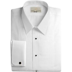Neil Allynメンズ100%コットンタキシードシャツ、スリムフィット カラー: ホワイト