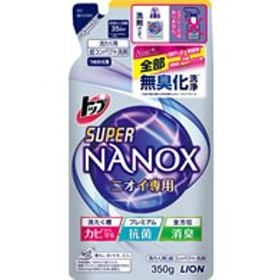 ライオン/トップ スーパーNANOX ニオイ専用 詰替 350g