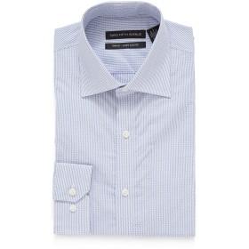 【86%OFF】スプレッドカラー フィットシャツ ライトブルー 16.5/32