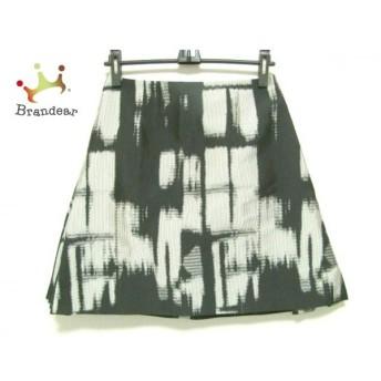 アディアム ADEAM スカート サイズ4 XL レディース 新品同様 黒×ライトグレー 新着 20190830